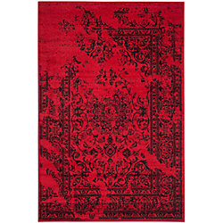 Safavieh Adirondack Alexa Red / Black 4 ft. x 6 ft. Indoor Area Rug