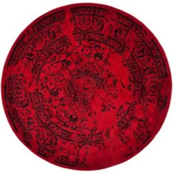 Safavieh Adirondack Alexa Red / Black 4 ft. x 4 ft. Indoor Round Area Rug