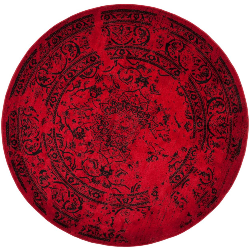 Safavieh Adirondack Alexa Red / Black 6 ft. x 6 ft. Indoor Round Area Rug