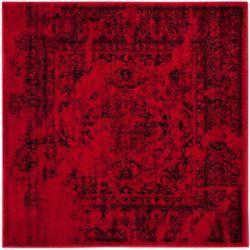 Safavieh Adirondack Alexa Red / Black 8 ft. x 8 ft. Indoor Square Area Rug
