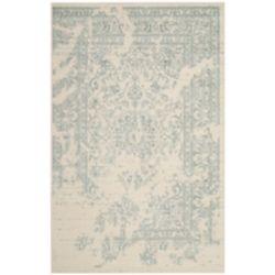 Safavieh Carpette d'intérieur, 4 pi x 6 pi, style traditionnel, rectangulaire, blanc cassé Adirondack