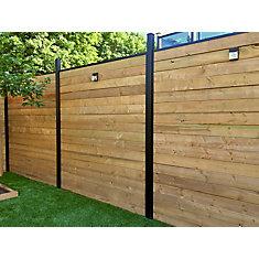 Ensemble de horizontal pour panneau de clôture Slipfence de style horizontal de 6pi de hauteur