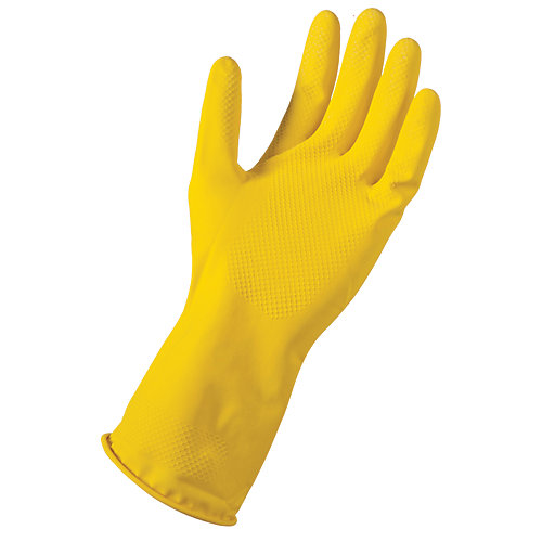 Large/X-Large Reusable Latex Gloves -(6-Pack)