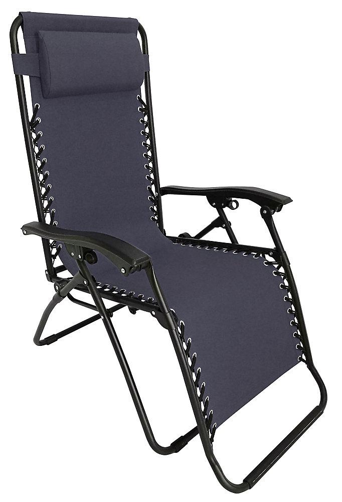 851cc702d1 Multi-Position Zero Gravity Lounge Chair in Grey
