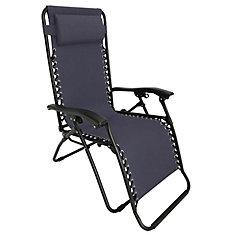 Multi-Position Zero Gravity Lounge Chair in Grey