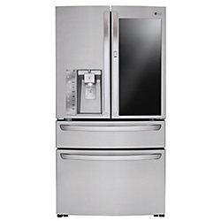 LG Electronics 36-inch W 30 cu. ft. 4-Door French Door Refrigerator with InstaView Door-in-Door in Stainless Steel - ENERGY STAR®