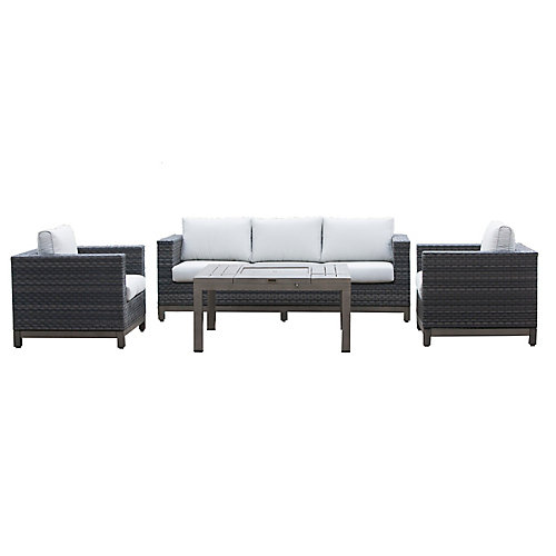 Ann Arbor 4-Piece Patio Chat Set