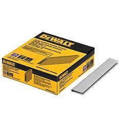 DEWALT Agrafes en acier collées de calibre 18 de 1 pouce x 7/32 pouce (5 000 par boîte)