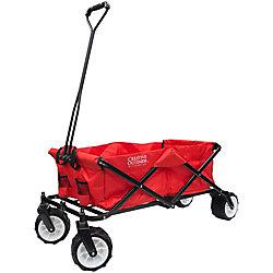 Creative Outdoor Grandes roues tout-terrain pliage wagon dans un cadre rouge / noir