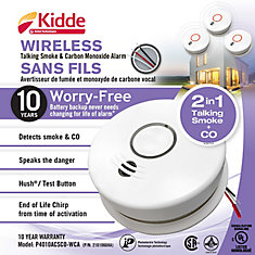 Wireless Talking Combination Alarm - Hardwire with 10 yr BBU