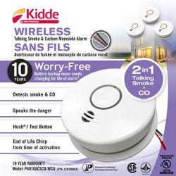 Kidde Wireless Talking Combination Alarm - Hardwire with 10 yr BBU
