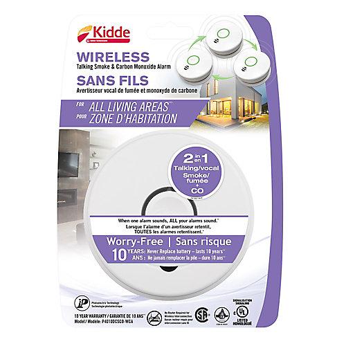 Wireless Talking Combination Alarm - 10 yr Battery