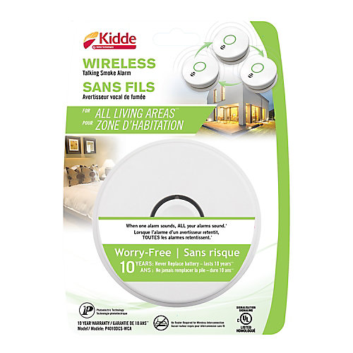 Wireless Talking Smoke Alarm with 10-Year Battery