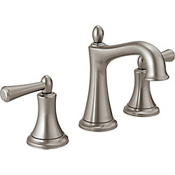 Delta Rila Two Handle Widespread Lavatory Faucet in Brushed Nickel