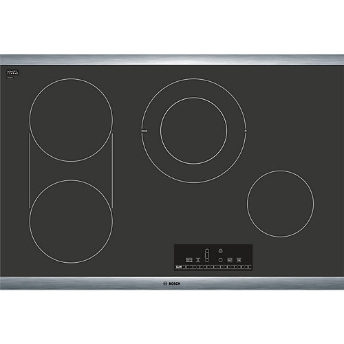 800 Series - 30 inch Electric Cooktop - Black w/ Stainless Steel Frame