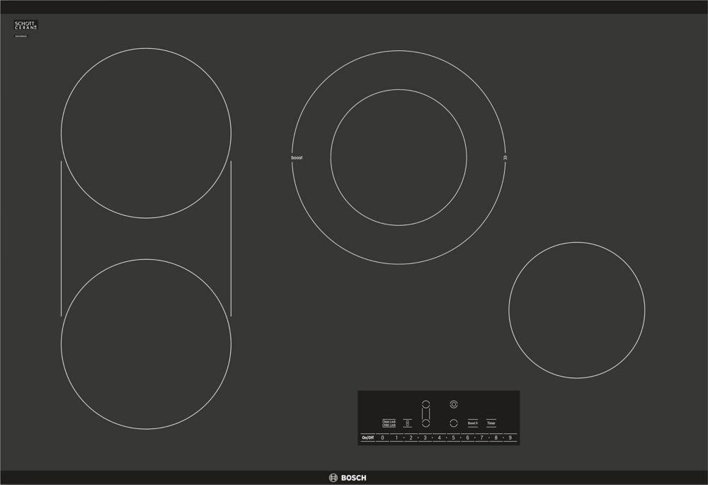 Bosch 800 Series - 30 inch Electric Cooktop - Frameless Design