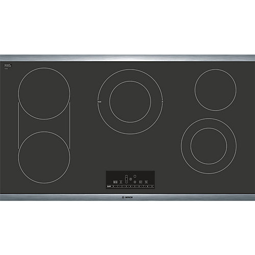 800 Series - 36 inch Electric Cooktop - Black with Stainless Steel Frame