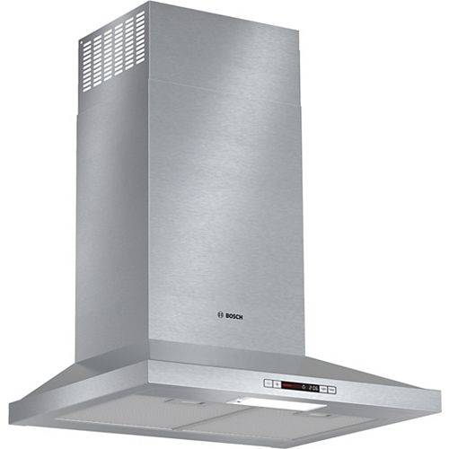 Bosch 300 Series - ENERGY STAR 24 inch Pyramid Canopy Chimney Hood - 300 CFM - ENERGY STAR®