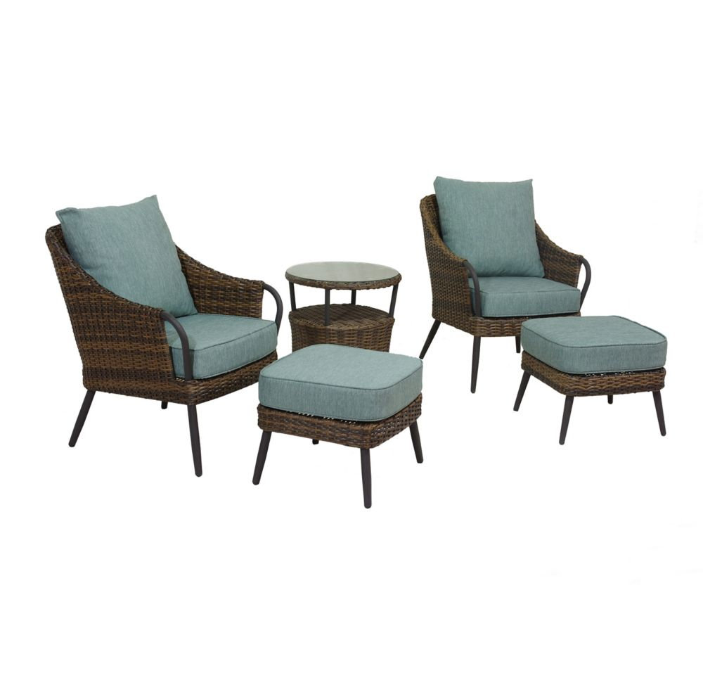 Hampton Bay Harper Hill 5-Piece Patio Bistro Set