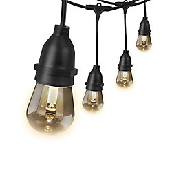 Feit Electric 30 ft. LED Outdoor Weatherproof colour Changing String Light Set in Black