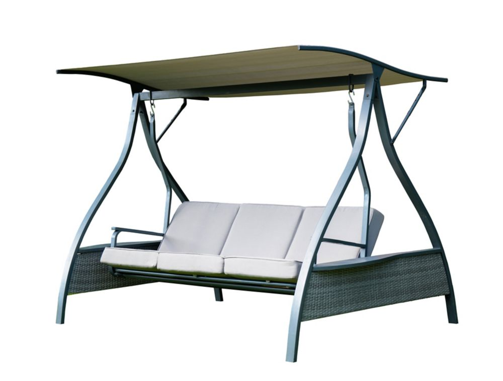 Hampton Bay 3-Person Daybed Swing