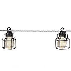 10-Light 10.5 ft. LED Metal Cage String Light