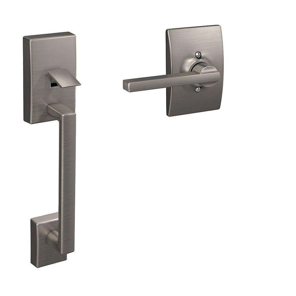 Century Lower Half Handleset and Latitude Lever in Satin Nickel