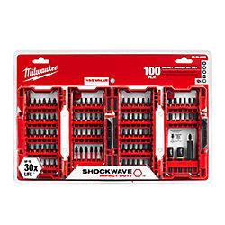 Milwaukee Tool Shockwave Impact Bit Set (100-Piece)