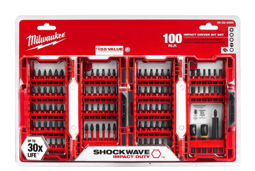 Milwaukee Tool Milwaukee Tool Shockwave Impact Bit Set (100-Piece)