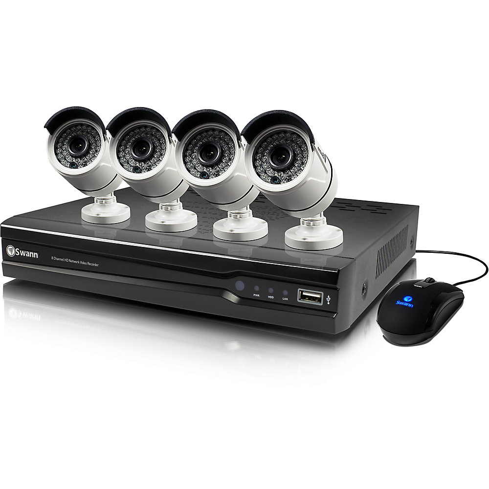 8 Channel 4MP 2TB NVR Security System With 4 Full HD 4MP Cams