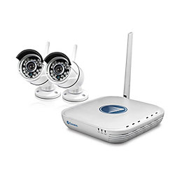 Swann 4 Channel 720P 500GB Wifi Micro NVR Security System with 2 720P Cams