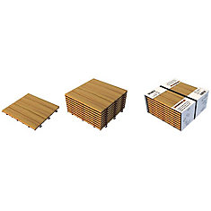 Acacia Wood Modular Deck Tiles
