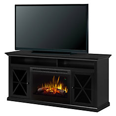 Newman 62-inch Freestanding Electric Media Console in Dark Roast