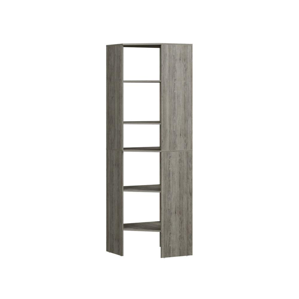 ClosetMaid ClosetMaid Style+ Corner Floor Tower Coastal Teak