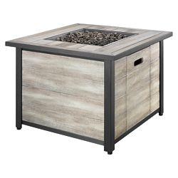 Hampton Bay Table à foyer carrée en bois vieilli