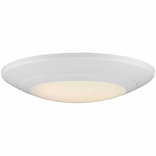 6-inch White Integrated LED Recessed Disk Light