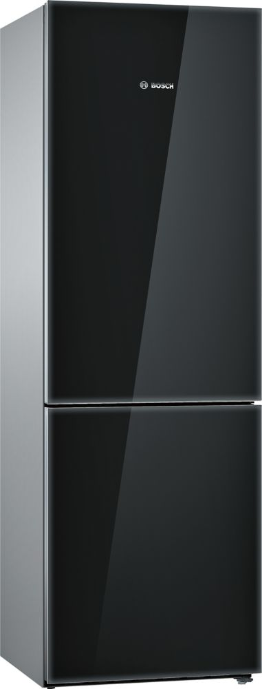 800 Series - 24 inch 10 cu. ft. Counter-Depth Bottom Freezer - Black with Glass Door - ENERGY STAR®