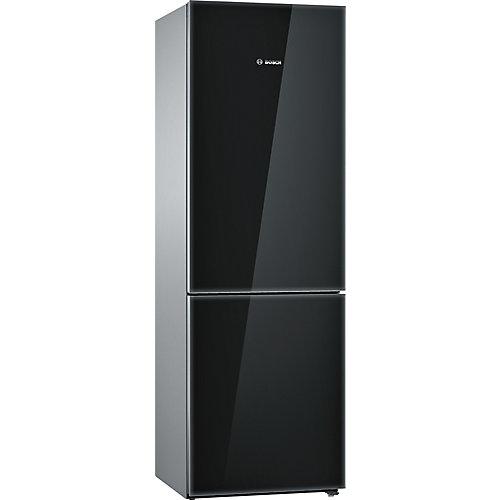Série 800, Réfrigérateur à profondeur de comptoir et congélateur en bas-Portes en verre sur noir - ENERGY STAR®
