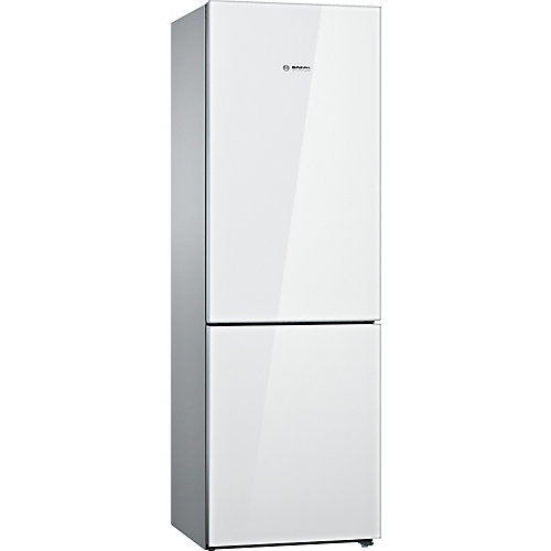 800 Series - 24 inch 10 cu. ft. Counter-Depth Bottom Freezer - White with Glass Door - ENERGY STAR®