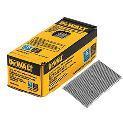 DEWALT 1-1/2-inch x 15-Gauge Glue Collated Angled Bright Finish Nails (1,000 per Box)