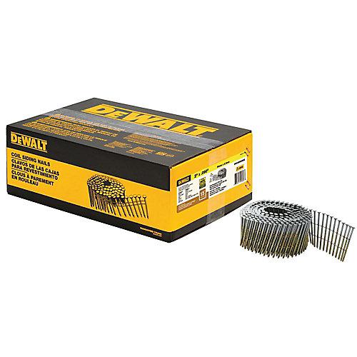 2-inch x 0.090-inch Metal Coil Ring Shank Nails 3600 per Box