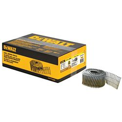 DEWALT 2-inch x 0.090-inch Metal Coil Ring Shank Nails 3600 per Box