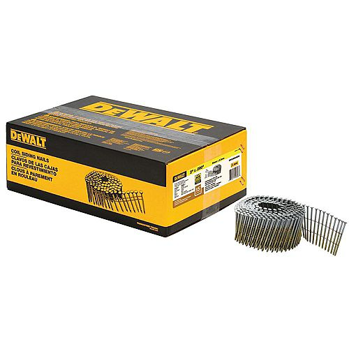 DEWALT 2-inch x 0.090-inch Metal Coil Ring Shank Nails 3600 per Box
