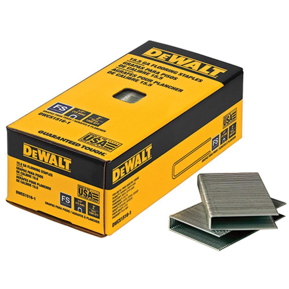 2-inch Leg x 1/2-inch Crown 15-1/2-Gauge Galvanized Steel Hardwood Flooring Staple (7,728 per Box)