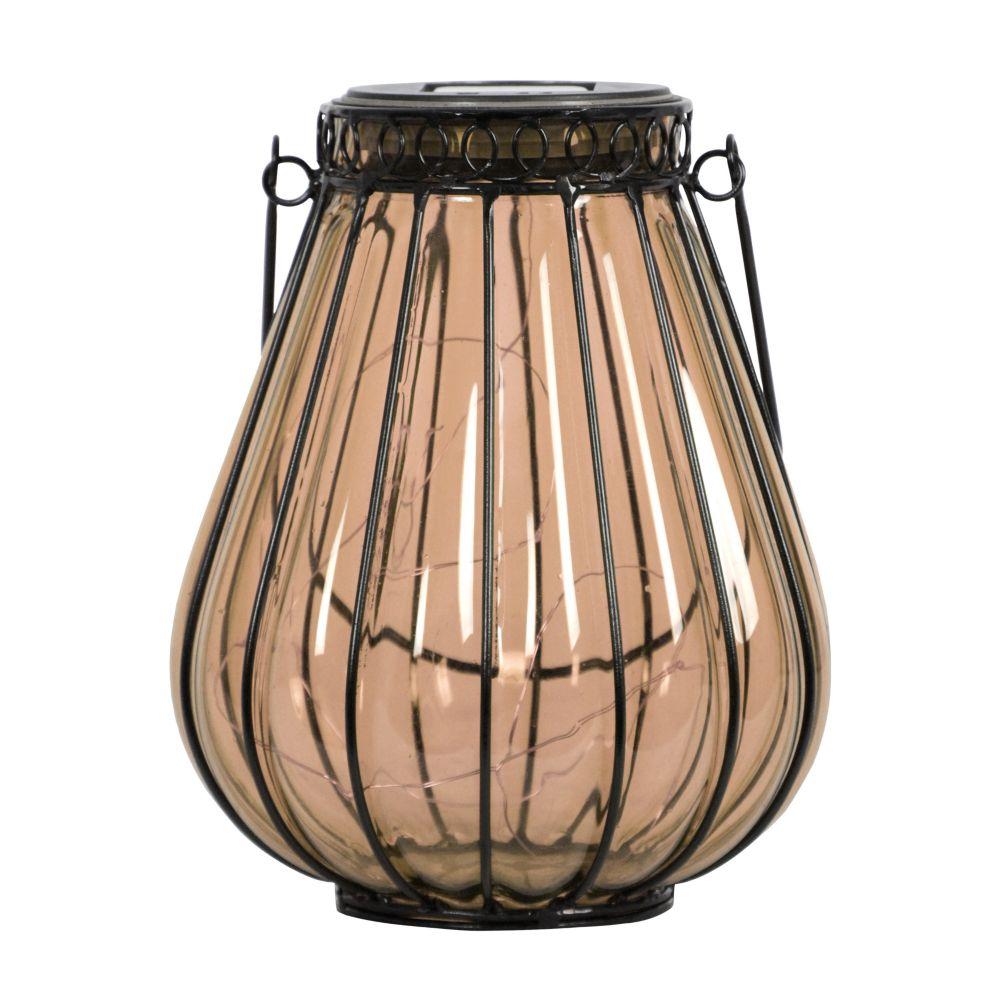 Hampton Bay 8.5 inch Solar Glass Lantern