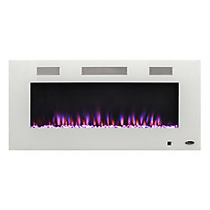 42-inch Electric Fireplace with Bonus Media Kit in White