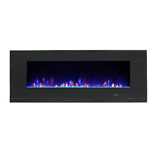 Mirage 50-inch Wall-Mount Electric Fireplace with Multi-Colour Flames