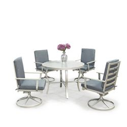 Homestyles South Beach 5 Pc. Table ronde de salle à manger et 4 fauteuils pivotants