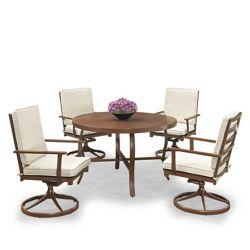Homestyles Key West 5 Pc. Table ronde de salle à manger et 4 fauteuils pivotants