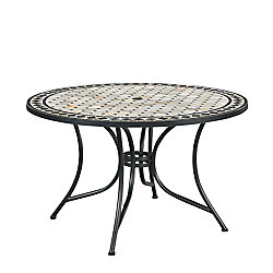 Homestyles Marble Top Round Outdoor Dining Table